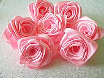Kytice pre nevestu - saténové ružičky - 4214411_