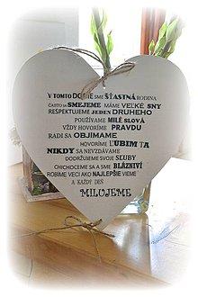 Tabuľky - Veľké srdce s nápisom - 4214703_