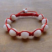 Náramky - Červený Shamballa Náramok s Mesačným Kameňom - 4218619  c88f9312d8c
