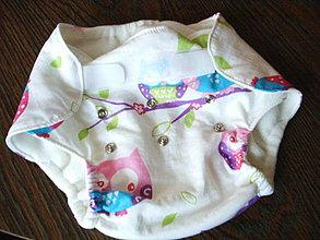Detské oblečenie - plienkové nohavičky 2 v 1 - sovičky - 4218834_