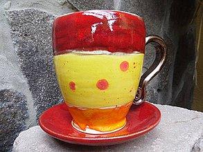 Nádoby - Pohár veľký letný s tanierikom - 4217033_