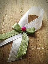 Pierka - svadobné pierko-zeleno cyklámenová - 4219633_