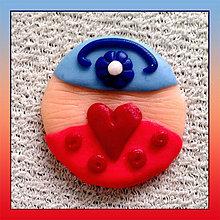 Drobnosti - Láska kvitne v každom veku -  magnetka(alebo prívesok) NA ZÁKAZKU - 4218648_
