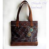Veľké tašky - Originálna kabelko-taška -káro - 4220907_
