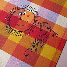 Úžitkový textil - TAK SI VISÍME ;o) - napron 70x70 cm - 4220493_