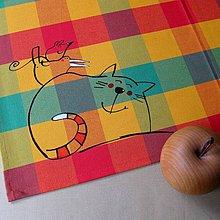 Úžitkový textil - NÁVŠTĚVNÍČCI - napron 70x70 cm - 4221552_
