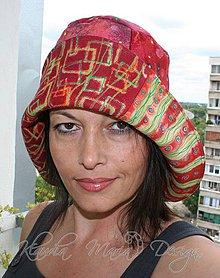 Čiapky - originálny farebný klobúk na dve strany - 4221976_