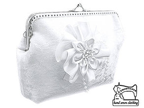 Kabelky - Svadobná kabelka, dámská kabelka 0555 A - 4226219_