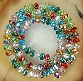 - Sklenené brúsené korálky farebné (balíček 30ks) - 4223600_