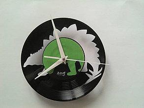 Hodiny - dino STEGOSAURUS out - vinylové hodiny - 4226750_