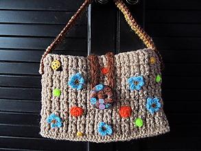 Detské tašky - detská hnedá taštička - 4226706_