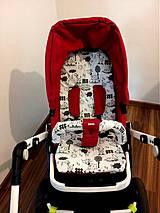 Textil - Podložka a obal na madlo na akýkoľvek kočík - 4231336_