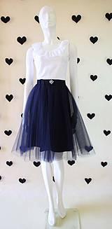 - Tylová sukňa ...NEW.....tmavo modrá - 4230861_