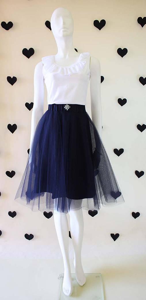 Tylová sukňa ...NEW.....tmavo modrá   ZuzanaZachar - SAShE.sk ... 5252cc2adb