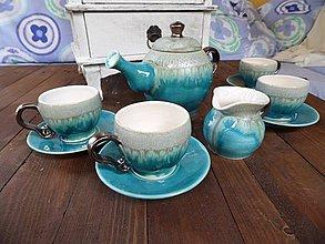Nádoby - Kávová súprava tyrkys - 4229858_