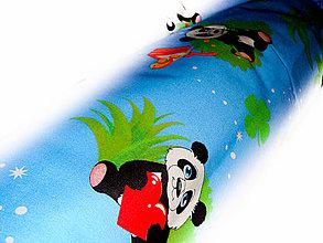 Textil - _HAJA & PanDA ♥ 170 cm_MoDRá (bočný vankúš) - 4233139_