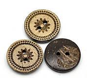 - Kokosový gombíček kvetinka 18mm - 4235232_
