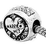 Prívesok na pandorkový náramok/náhrdelník s nápisom MARRY ME