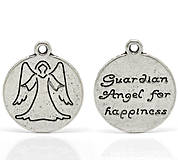 Prívesok ochranný anjelik s nápisom