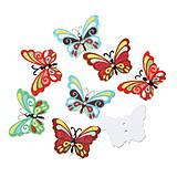 Drevené gombíčky motýliky (balíček 10ks)