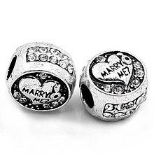 Korálky - Korálka na pandorkový náramok/náhrdelník MARRY ME - 4235269_