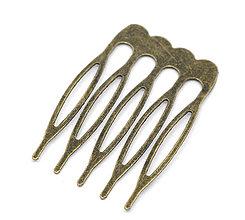 Komponenty - Kovový hrebienok do vlasov (na ďalšie dozdobenie) - 4235513_