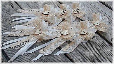 Pierka - Svadobné pierka - svedok, rodičia, družba - 4236782_