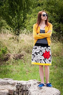 Sukne - s červeným kvetom - 4238877_