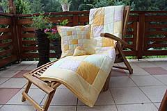 Úžitkový textil - prehoz na posteľ patchwork deka 140x200 alebo 220x220 smotanovo - žltá - 4239401_