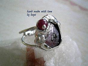 Prstene - Malinová pena (rubíny) pôvodná cena 19 eur - 4236591_