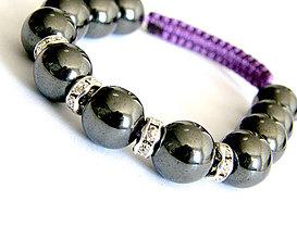Náramky - violette hematit shamballa - 4239131_
