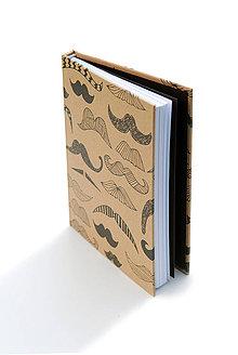 Papiernictvo - Zápisník A5 Moustache - 4237503_