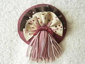 Odznaky/Brošne - Brošňa kožená, fialenka morská - 4238060_