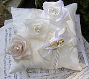 Prstene - svadobný vankúšik - 4240550_