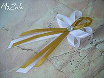 svadobné pierko v zlatom