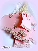 Papiernictvo - Nežné kartičky na fľaštičky :) - 4241628_