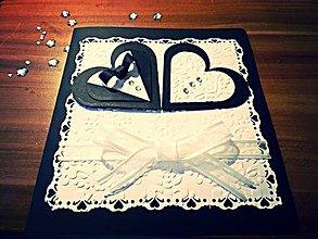 Papiernictvo - Elegantné blahoželanie k svadbe - 4242335_
