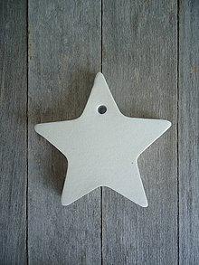 Materiál ručne robený - Hviezda biela - materiál - 4243512_