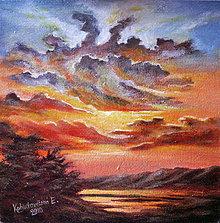Obrazy - Západ slnka - 4246112_