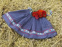 Sukne - Modrotlačová sukňa II. - 4246246_