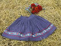 Sukne - Modrotlačová sukňa II. - 4246250_