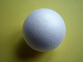 Polotovary - Polystyrénová guľa 10cm - 4245373_