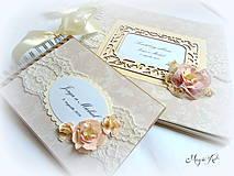 Papiernictvo - Svadobná kolekcia: Púdrové pivónky - 4247544_