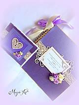 Papiernictvo - Svadobná kolekcie: Levandula s chuťou slivkových ruží... - 4247655_