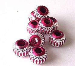 Korálky - Aluminio burgundy sfera - 4250486_