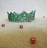 Ozdoby do vlasov - Zelená korunka - 4252893_