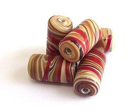 Korálky - Vinutka Wooden tambor tubes - 4252430_