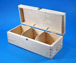 Polotovary - Krabica s 3 priečinkami masív - 4252561_