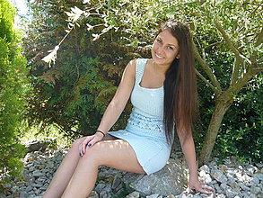 Šaty - Háčkované šaty Modré...nebeské - 4255845_
