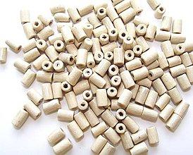 Korálky - Prírodné drevené korálky 8x4mm - 4257357_